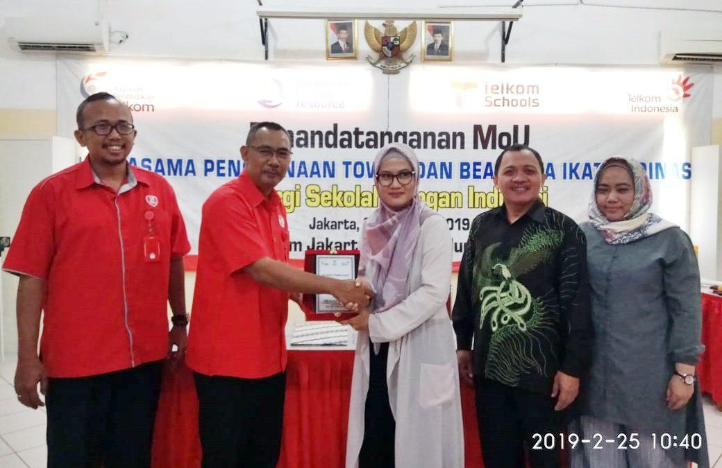 MOU PT.Indo Human Resource berikan Beasiswa Ikatan Dinas ke SMK Telkom Jakarta